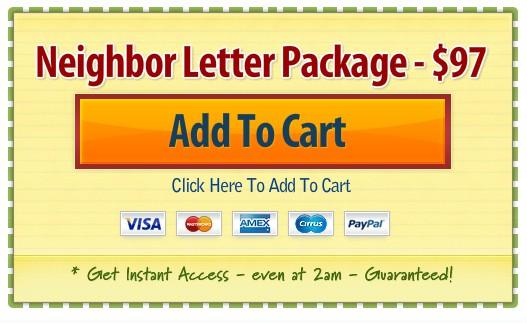 neighbor letter kit coupon