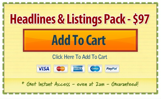 headlines and listings pack coupon