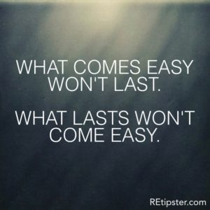 what comes easy