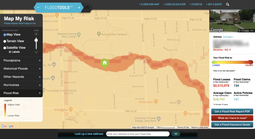check flood zone