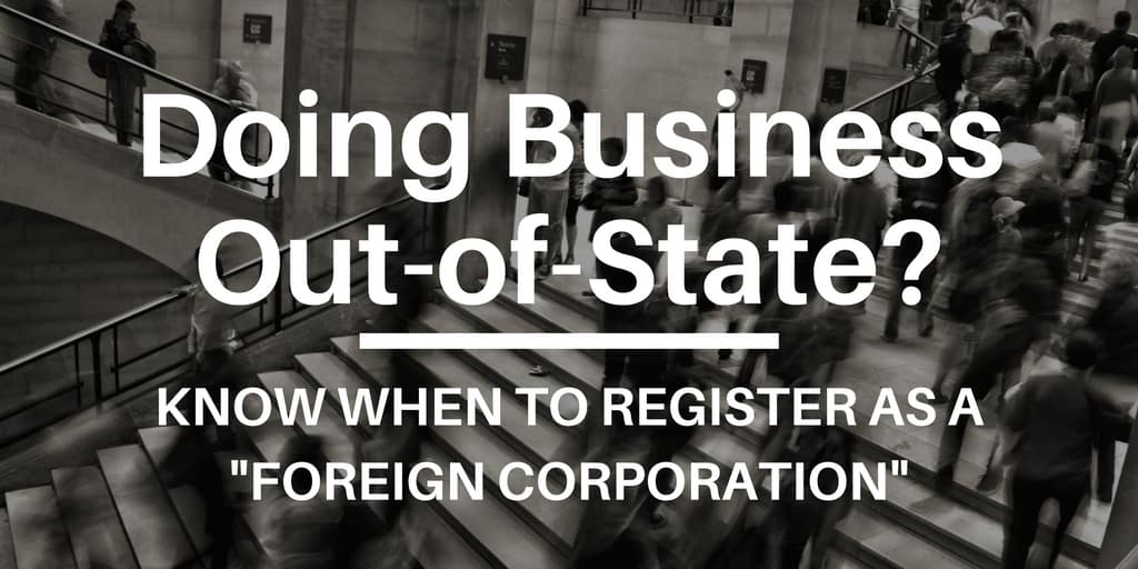 Doing Business Out-of-State-