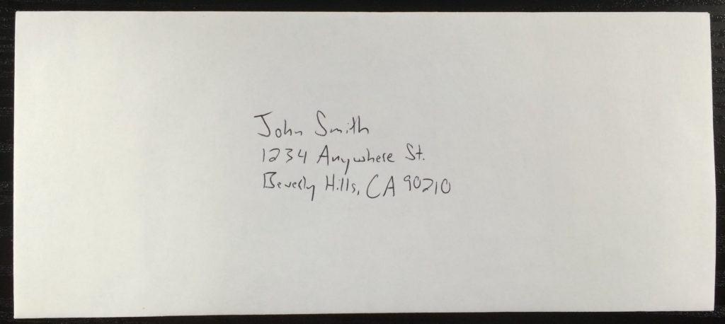 1098 Envelope