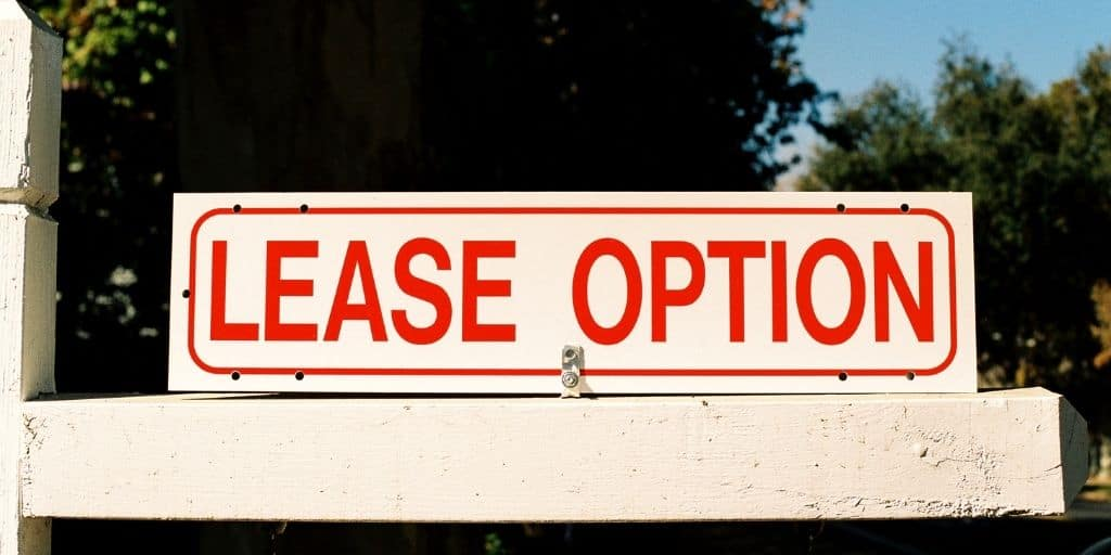 lease option sign