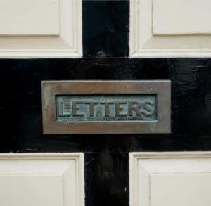 mailbox door