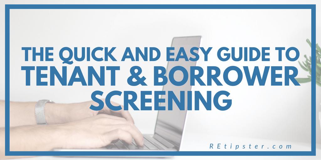 tenant & borrower screening