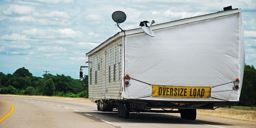 half double wide mobile home highway