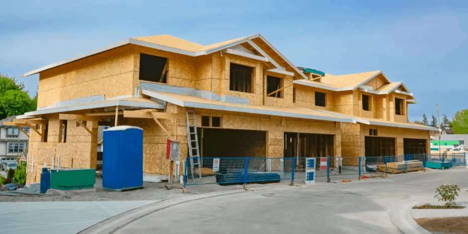 fourplex under construction