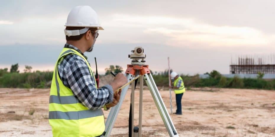 surveyors at work land survey