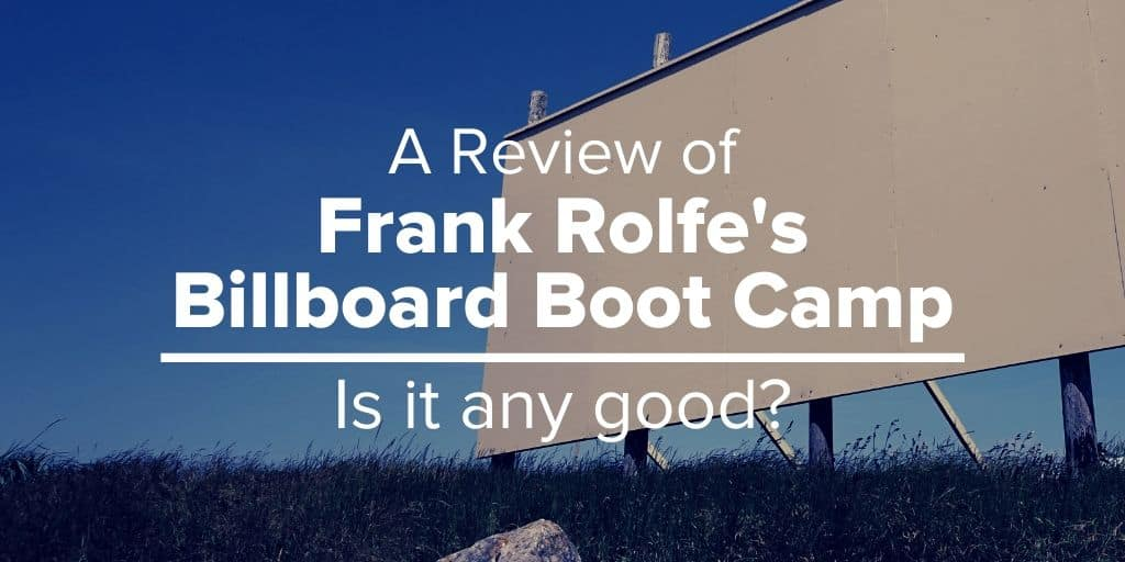 Review of Frank Rolfe Billboard Boot Camp