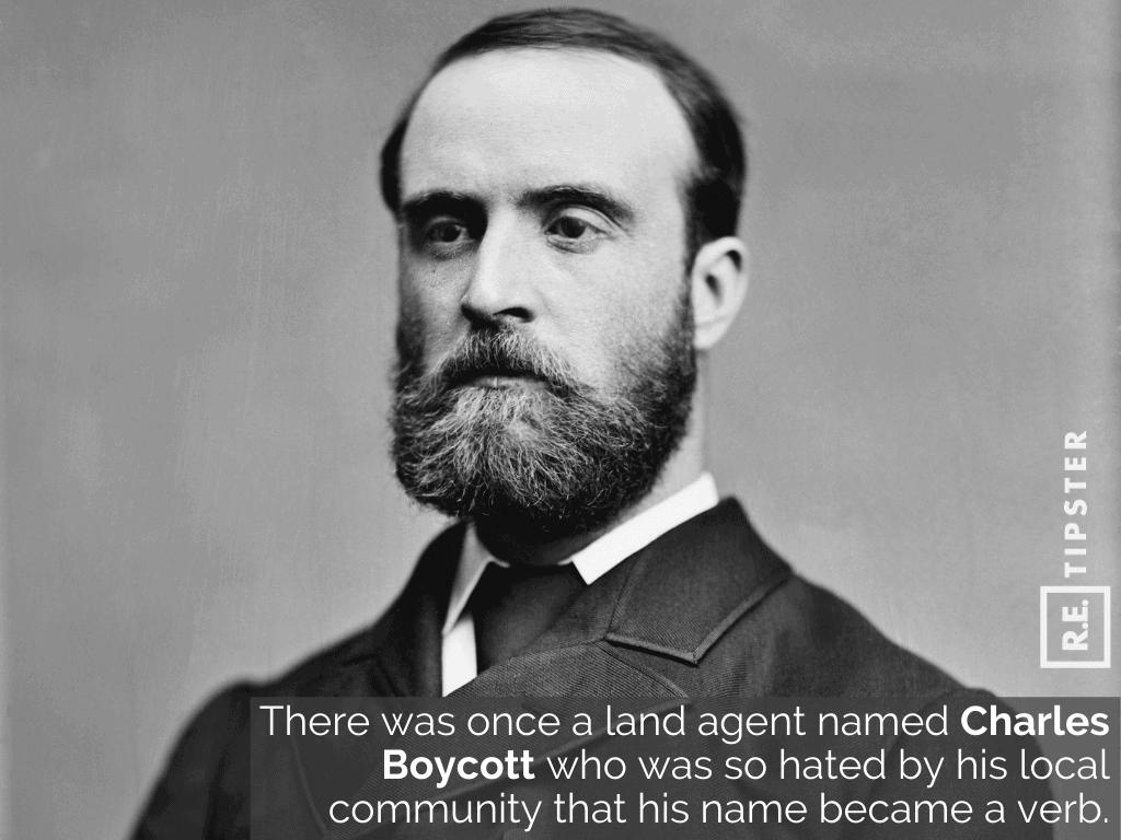 charles boycott hated name verb