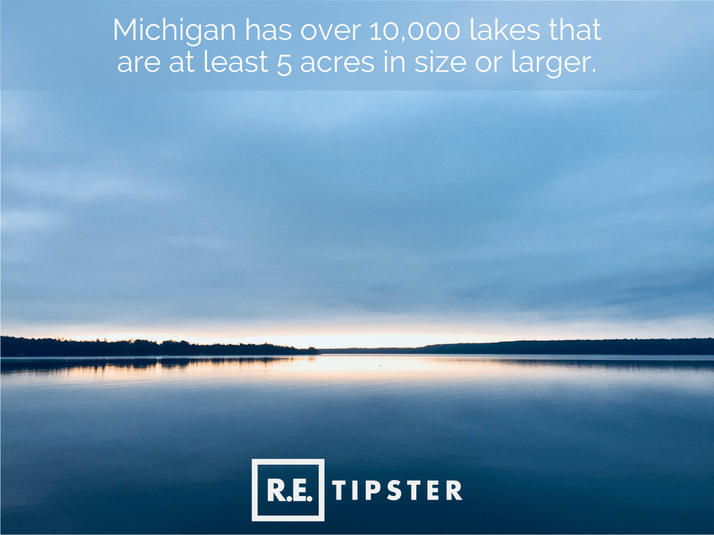 Michigan 10,000 lakes 5 acres or larger
