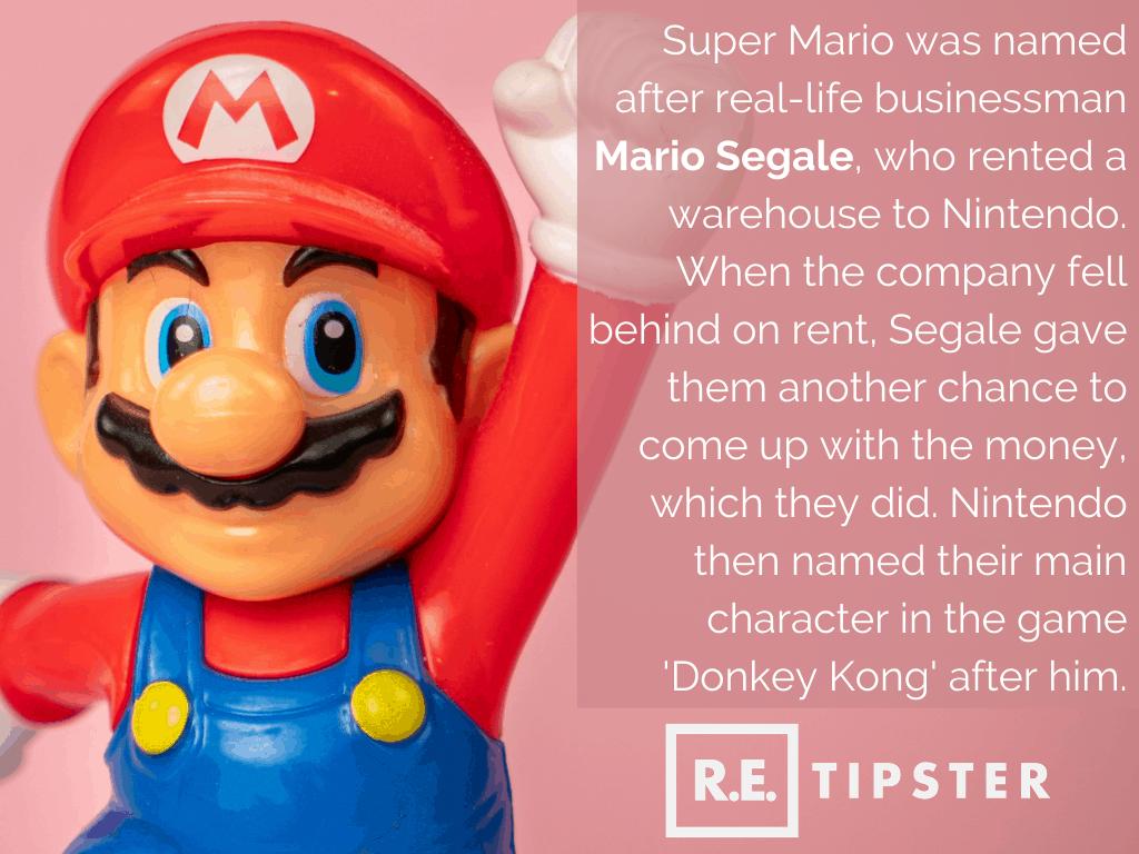 Super Mario was named after Mario Segale