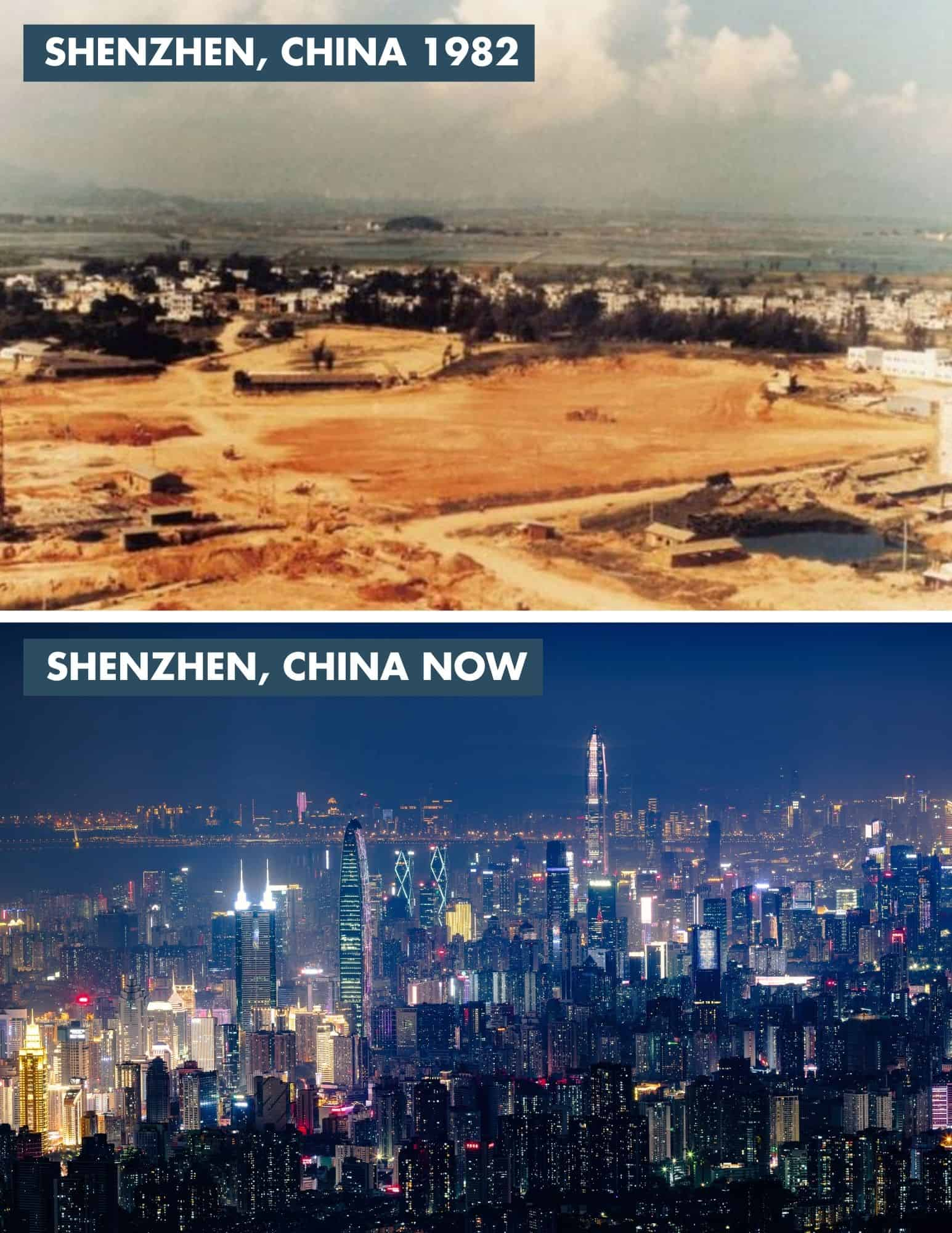 shenzhen china then and now