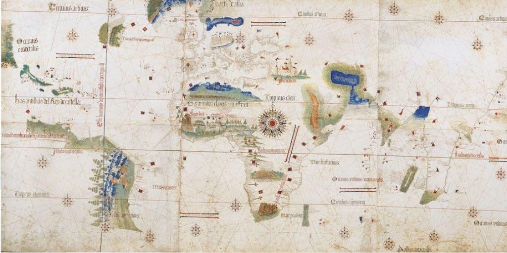 treaty of tordesillas map