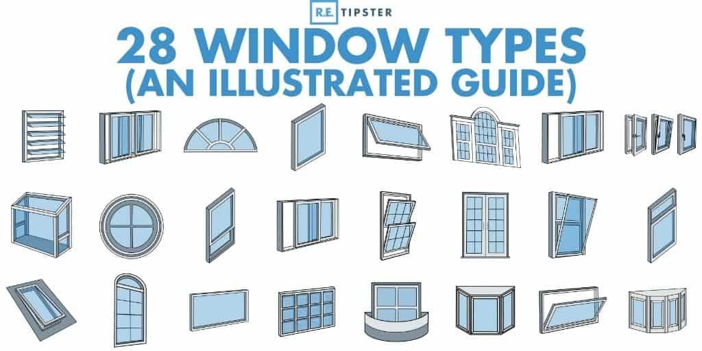 28 window types infographic