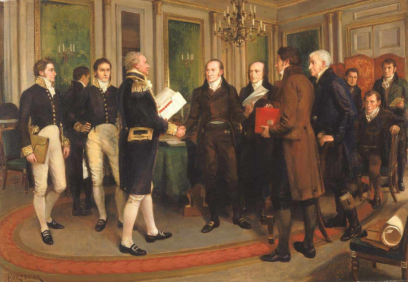 Signing of Treaty of Ghent (1814)