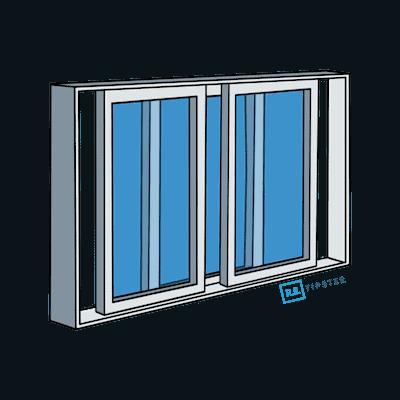 Three-Panel Slider Window