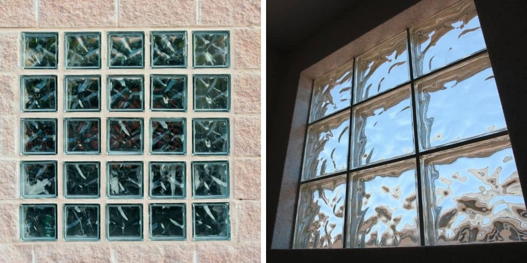 glass block window example