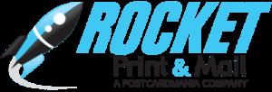 rocket print and mail logo