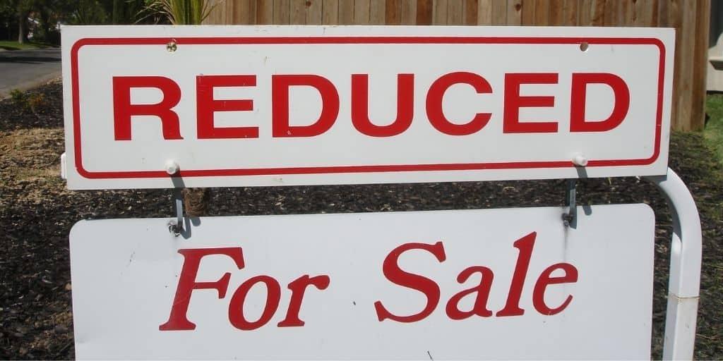 depreciation for sale sign